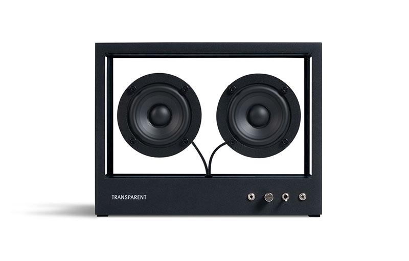 Small Transparent Speaker (black).