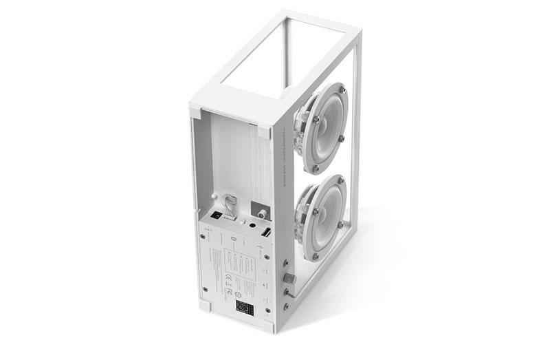 Small Transparent Speaker (white).