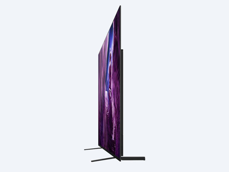 Your cabinet needs a depth of at least 33cm because the TV's feet protrude quite a bit both front and back. (Image: Sony.)