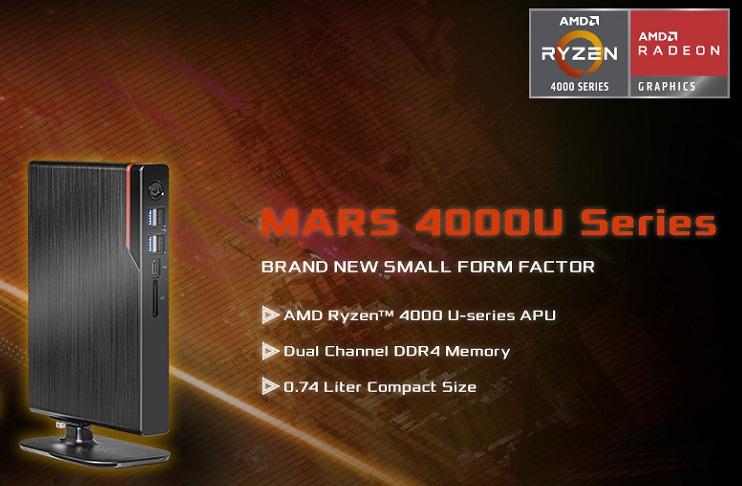 Enter the ASRock Mars 4000U mini PC.