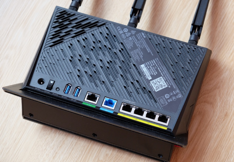The RT-AX86U has an additional WAN port that supports high-speed fibre up to 2.5Gbps.