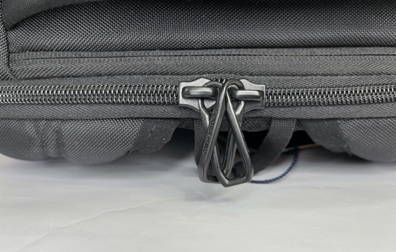 One way to secure the zips is to cross and lock them before securing them with a lock.