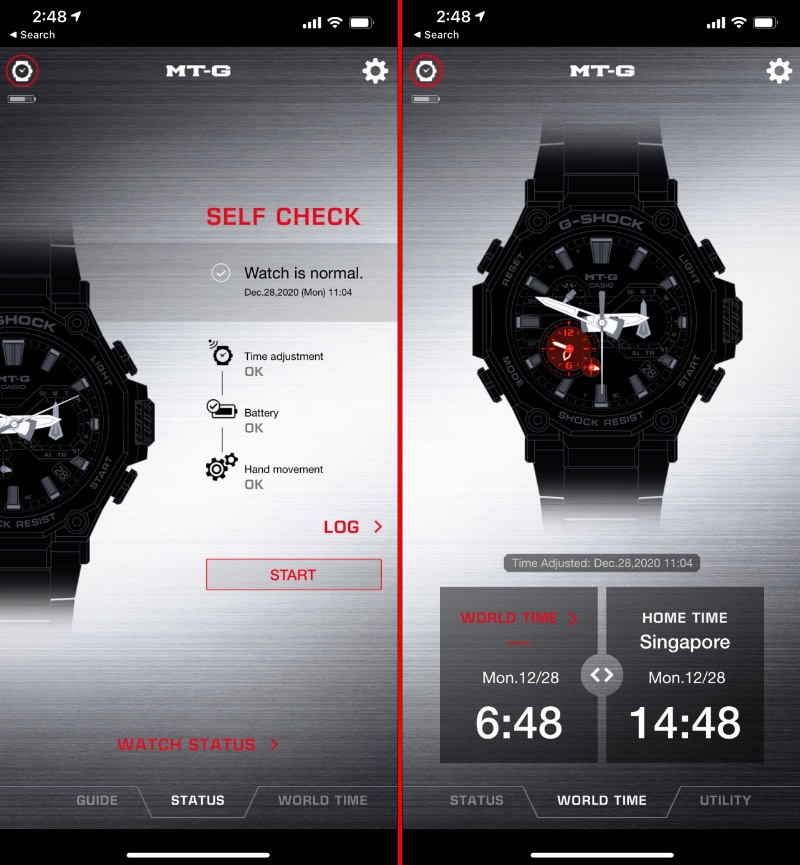 The G-Shock Connected app makes it easy to access and manage the MTG-B2000's various features and functions.