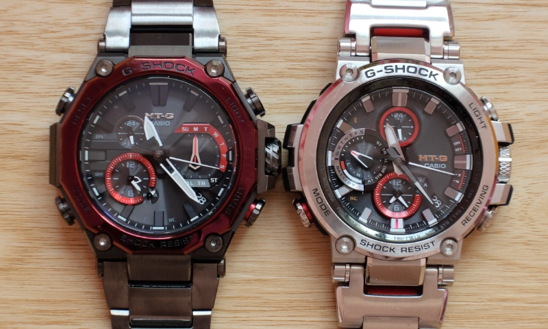 With its dodecagonal bezel,  the MTG-B2000 looks very different from the older MTG-B1000 (right).