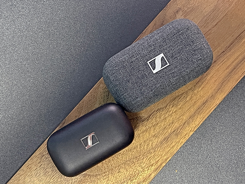 The CX 400BT has an overall smaller footprint compared to the Momentum True Wireless 2, but comes in an odd trapezium shape.