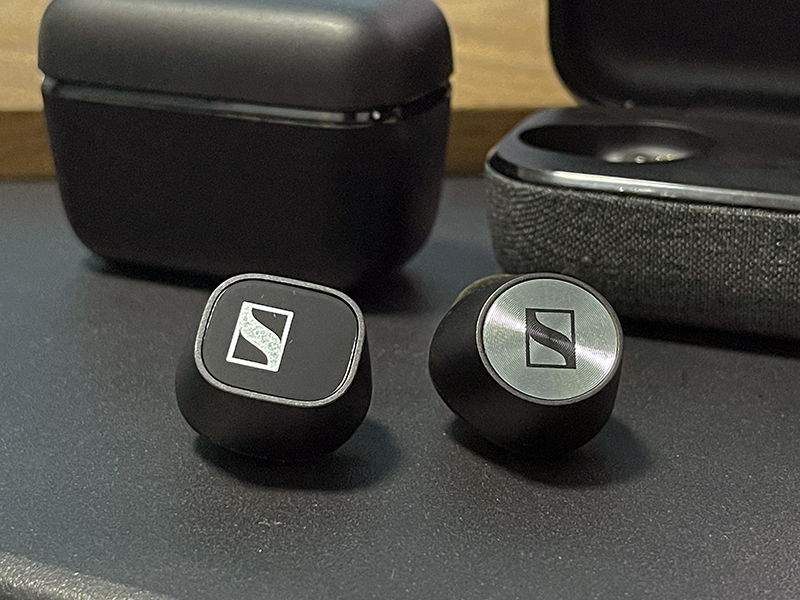 Both earbuds look almost exactly the same except for the cap, but the CX 400BT feels lighter in the ear than the MTW2.