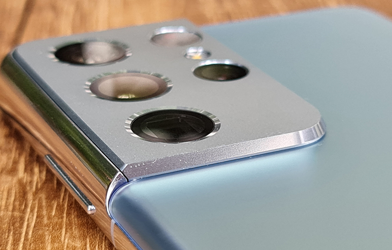 Galaxy S21 Ultra's rear camera housing is thicker than the others.
