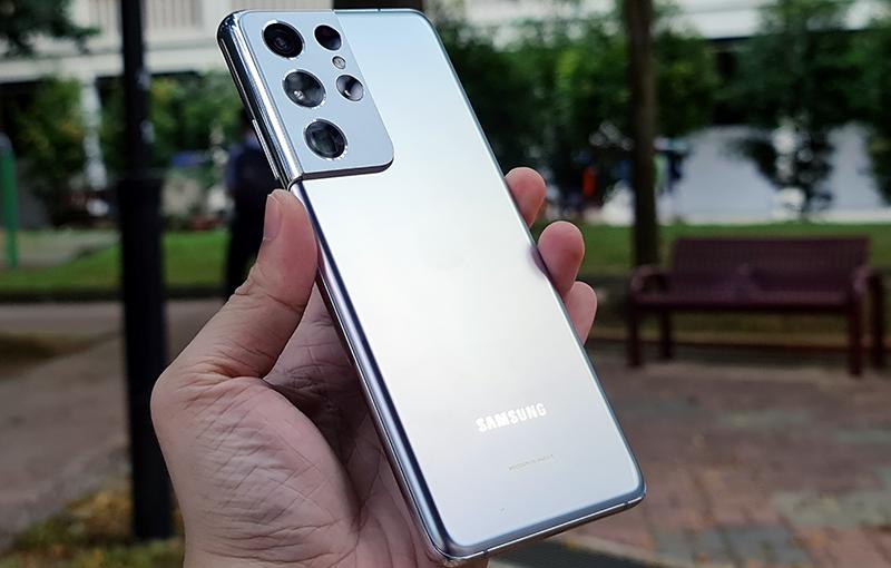 The Samsung Galaxy S21 Ultra 5G.