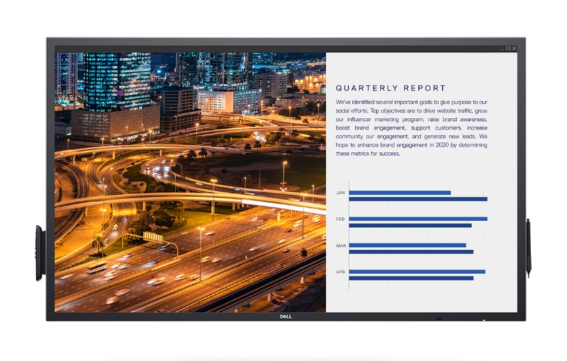 The 55-inch display is the entry-level model. Image courtesy of Dell.