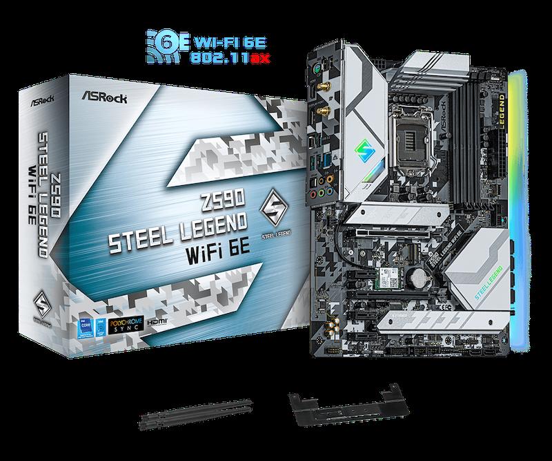 ASRock Z590 Steel Legend WiFi 6E Gaming Motherboard