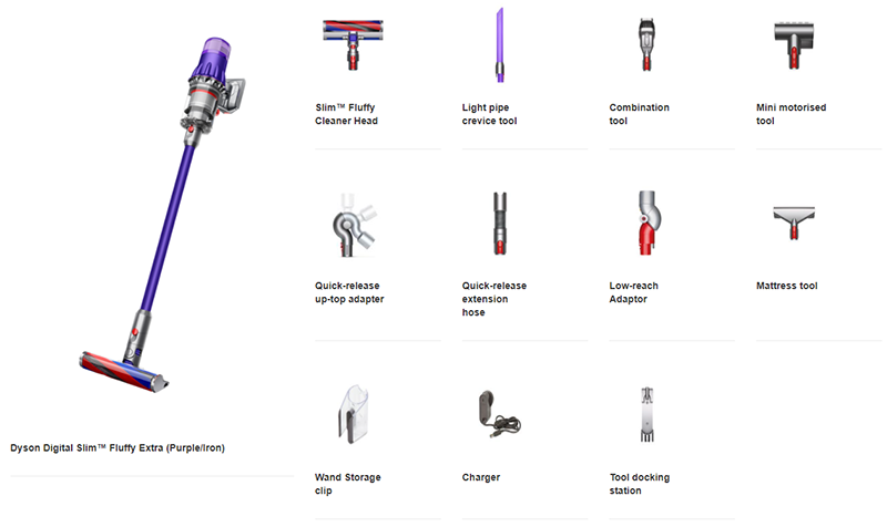 The Dyson Digital Slim ships with every accessory you could conceivably need.