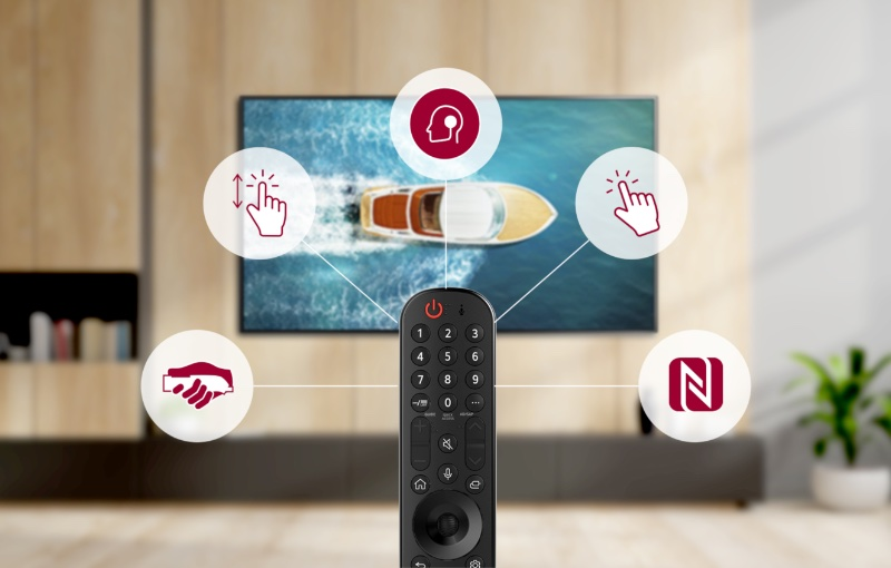 The Magic Remote is best paired with webOS 6. Image courtesy of LG.
