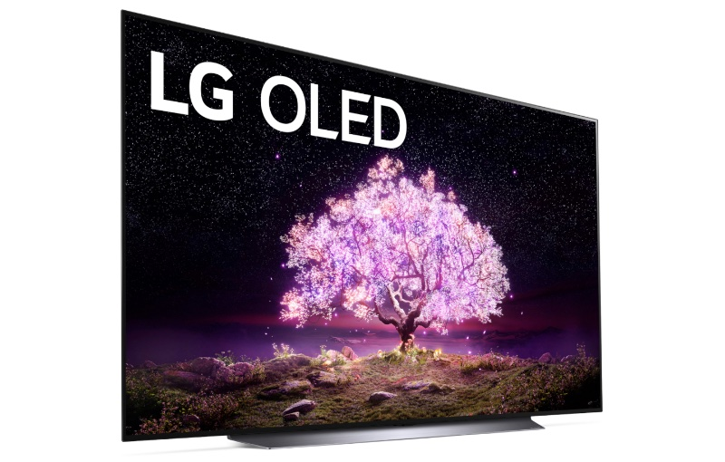 The largest C1 series TV. image courtesy of LG.