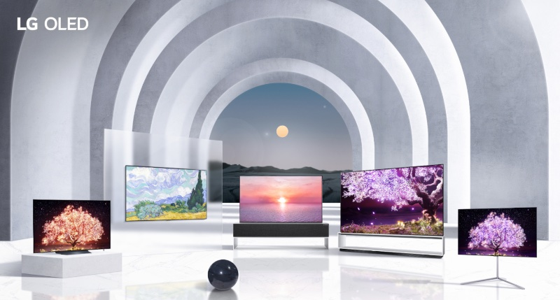 Their OLED lineup for 2021. Image courtesy of LG.