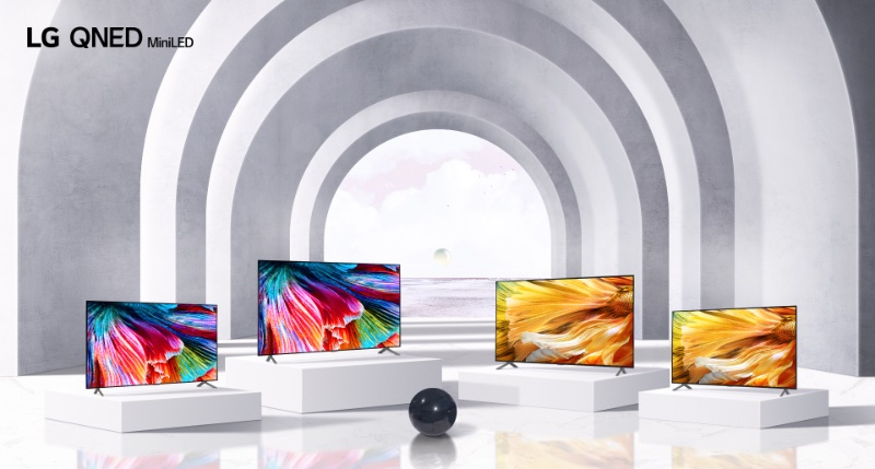 LG's new QNED range of TVs. Image courtesy of LG.