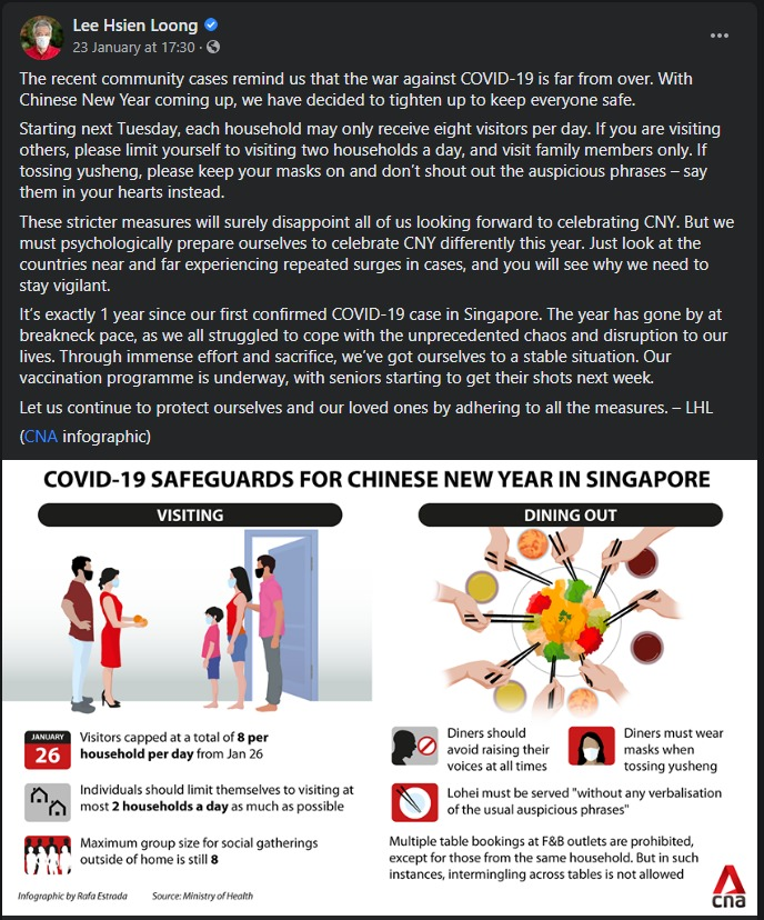 Source: Lee Hsien Loong's Facebook page.