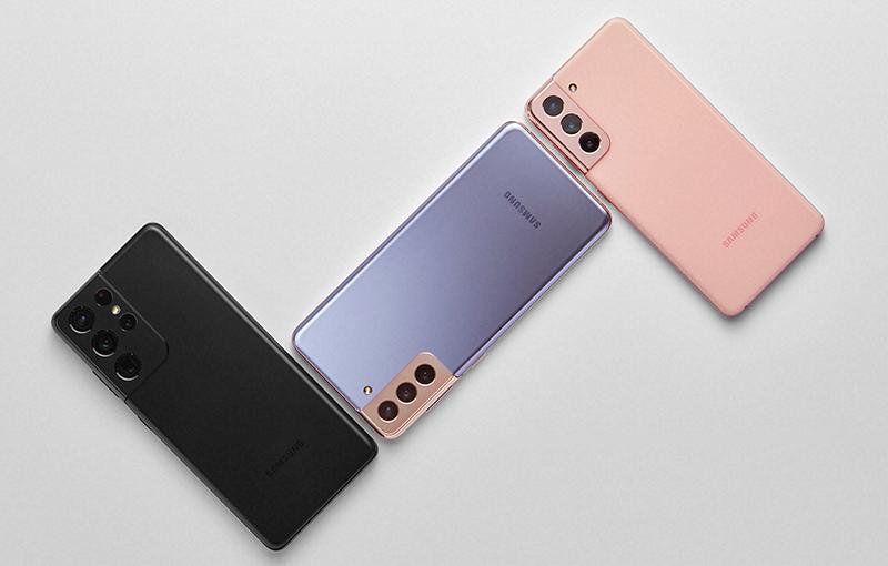 Samsung Galaxy S21 series.