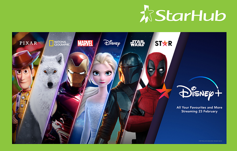 StarHub gets official distribution rights to all six Disney+ content streams.