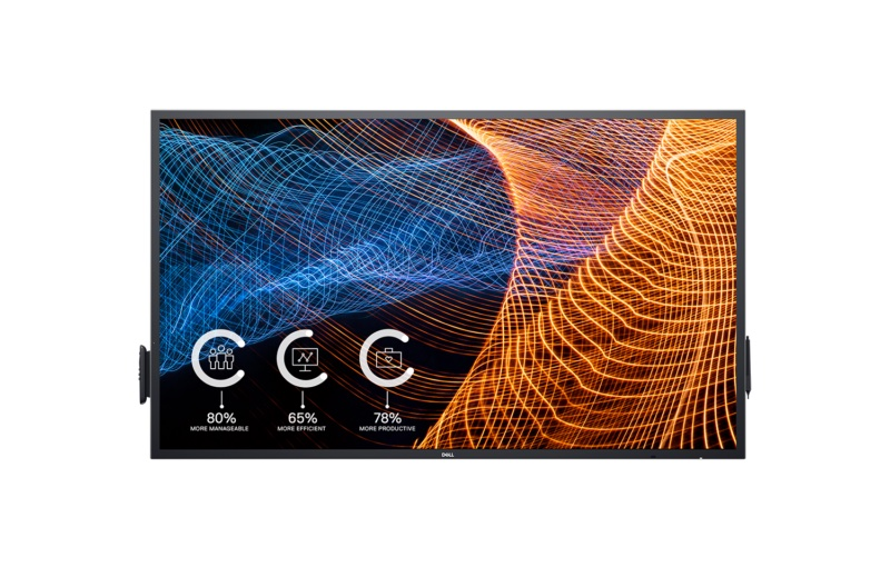 A touchscreen makes collaboration easier. Image courtesy of Dell.
