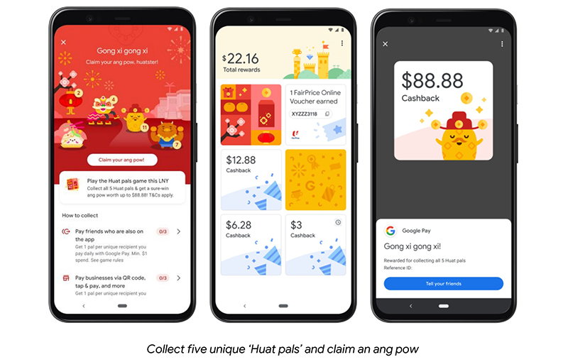 With Google Pay, 'tis the season to huat.