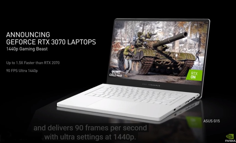 Meanwhile, the GeForce RTX 3070 is billed to be the 1440p resolution gaming beast. One such notebook to feature it would be the ASUS G15..