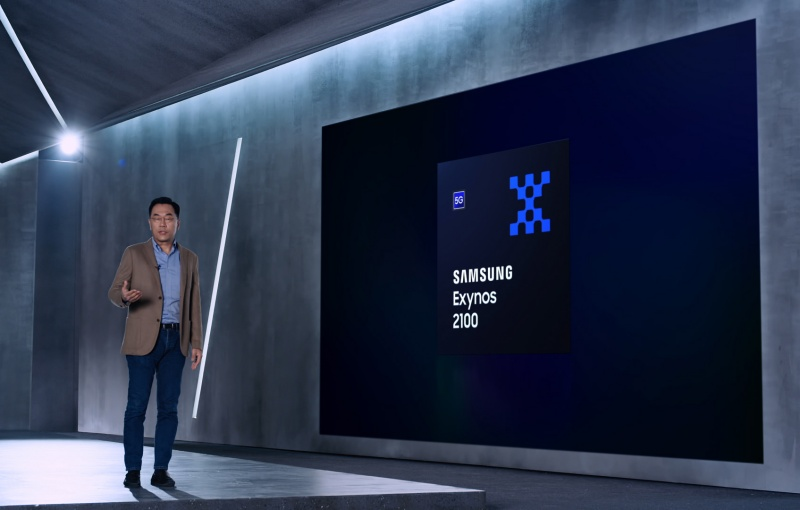 Dr. Inyup Kang, President of System LSI Business at Samsung Electronics, introduced the Samsung Exynos 2100.