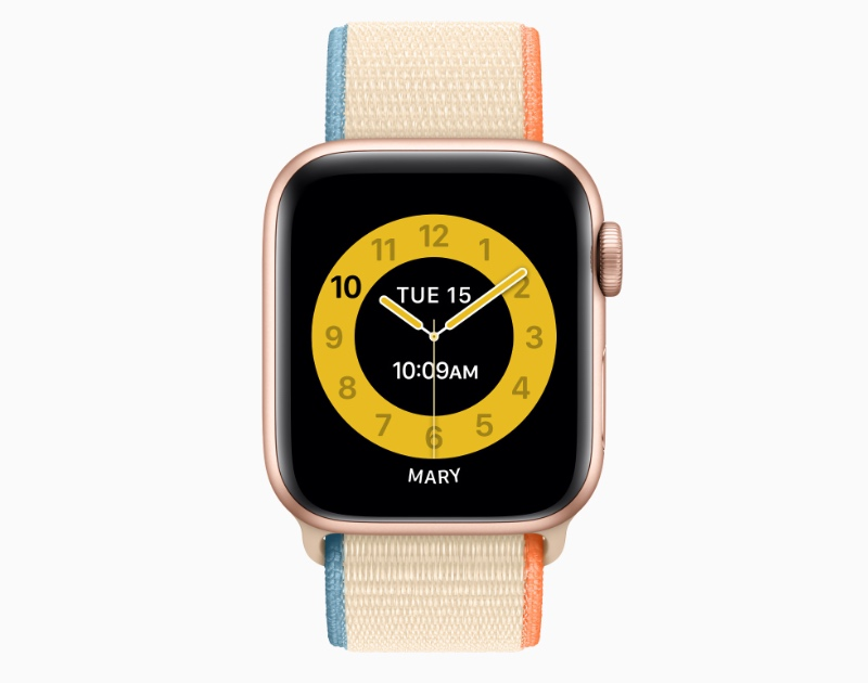 Some of the watch faces have been designed in collaboration with teachers to help children tell time better. (Image source: Apple)