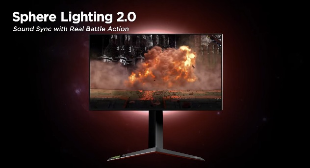 An example of Sound Sync optimized Sphere Lighting 2.0 in action. (Image source: LG)