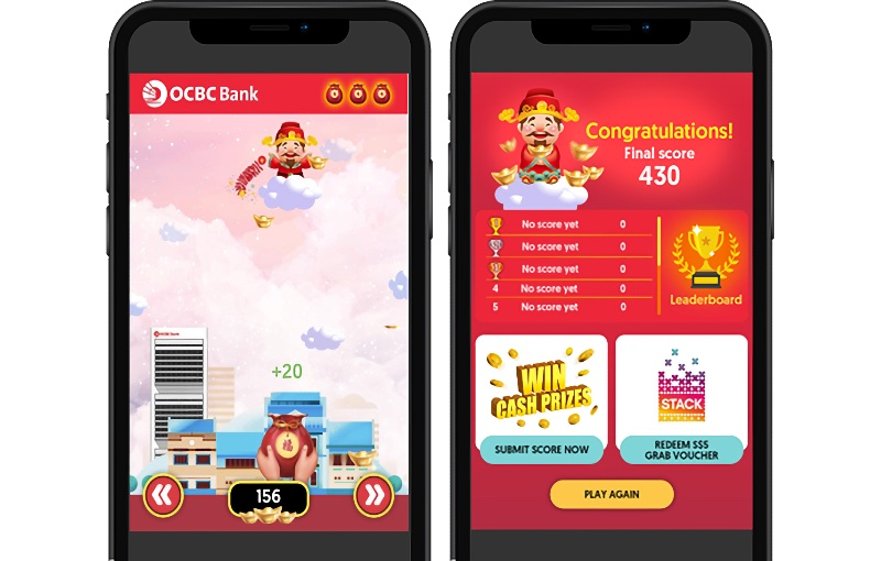 Players can upload their scores to the leader board once they're happy with how they've done. Image courtesy of OCBC.