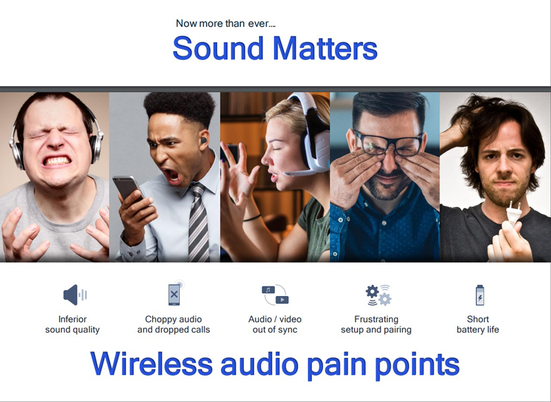 Exaggerated, but crappy audio experiences do be like that at times. Source: Qualcomm.