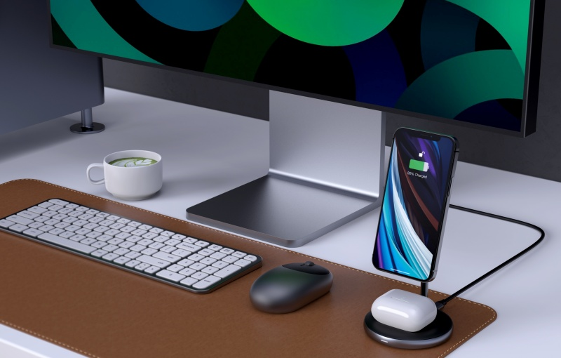 The HyperJuice Magnetic Wireless Charging Stand. <br>Image source: Hyper