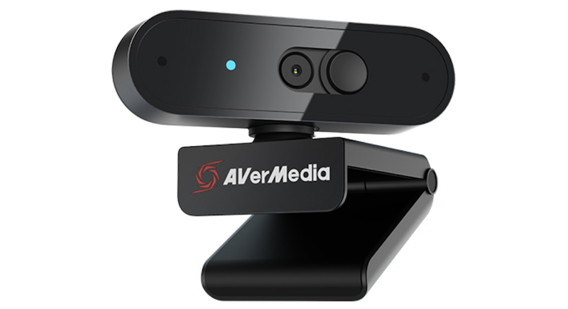 AVerMedia's PW310P camera tilted to the left. (Image Source: AVerMedia)