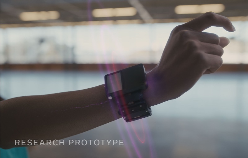 The wristbands can pick up impulses as small as a click. Image courtesy of Facebook.