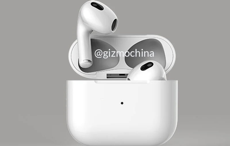 Purported render of the Apple AirPods 3. <br>Image source: GizmoChina