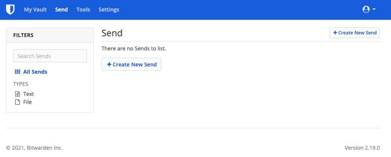 Bitwarden's Send feature.