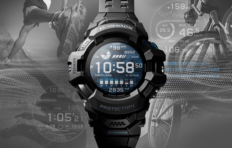 Get active without any fear of damaging your smartwatch. Image courtesy of Casio.