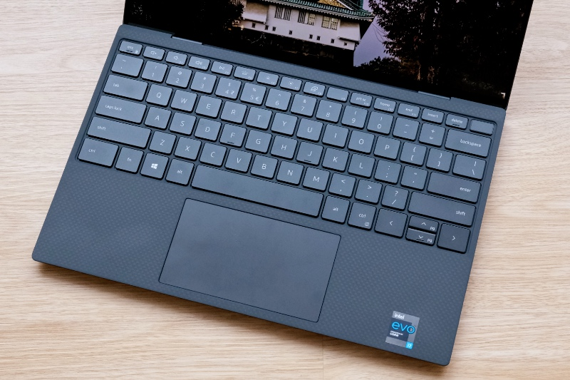 The feel of the keyboard is one of the best. The trackpad is a little small but Dell has made it just about as large as they could have.