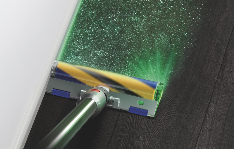 The new Dyson V15 Detect has lasers to highlight dust and dirt. (Image source: Dyson)