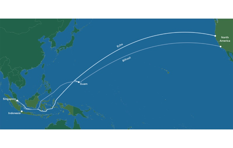 The route avoids crowded shipping lanes in North Asia. Image courtesy of Facebook.