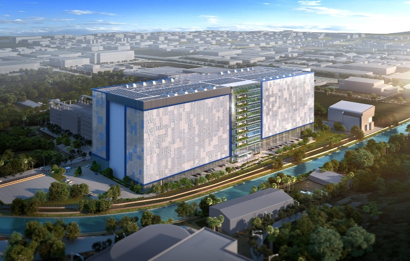 Concept of the Singapore data centre. Image courtesy of Facebook.