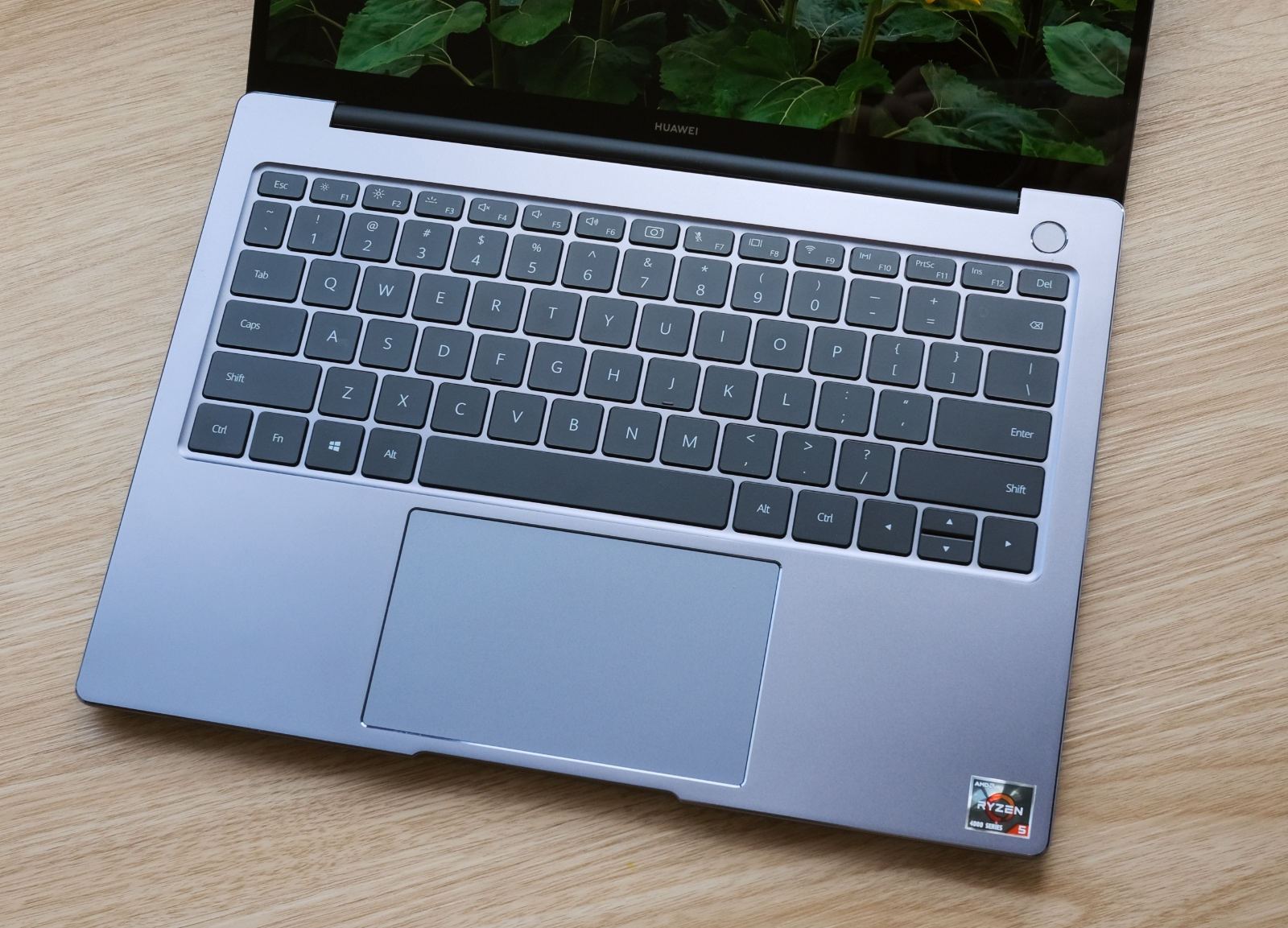 The trackpad is large and the keyboard is decent to type on.