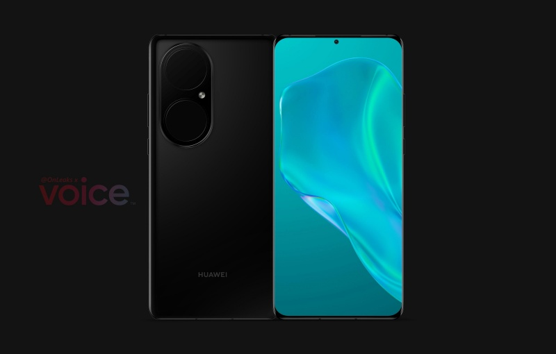 Purported render of the Huawei P50 Pro. <br>Image source: @OnLeaks