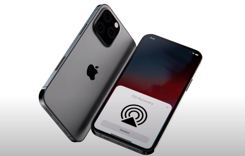 """Screenshot taken from EverythingApplePro's YouTube video on """"NEW Exclusive iPhone 13 Pro Leaks! Design, Matte Black, New Notch""""."""