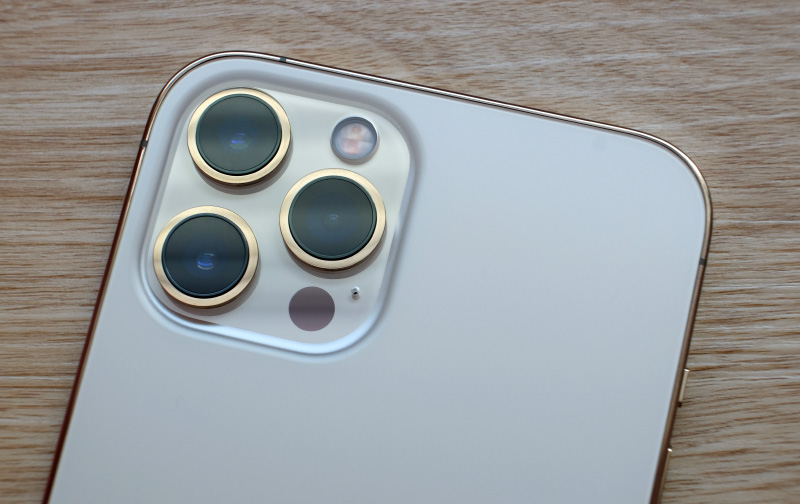 The rear camera module of the Apple iPhone 12 Pro Max.