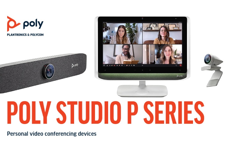 The new P Series helps you look and your best when video conferencing. Image courtesy of Poly.