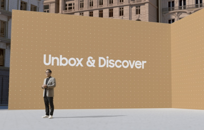 JH Han, President of Samsung's Visual Display Business opened Samsung's Unbox & Discover event.