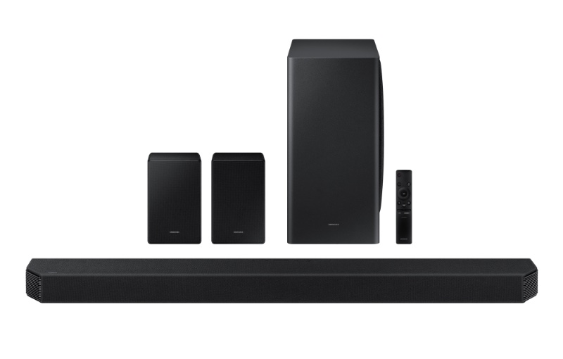 Enjoy Dolby Atmos and DTS:X surround sound technology. Image courtesy of Samsung.