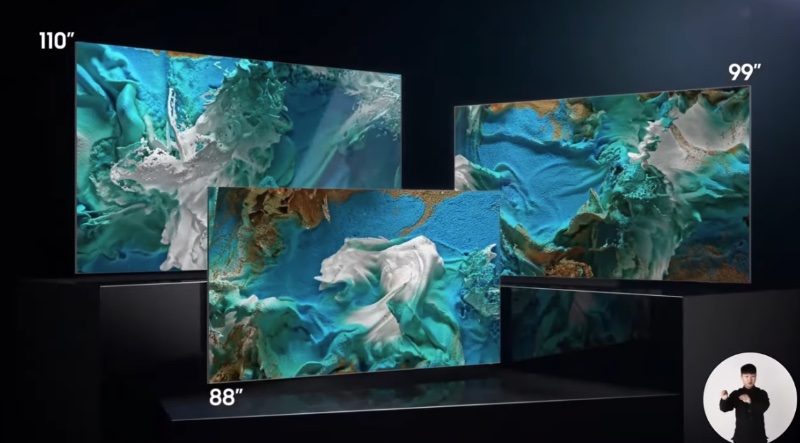 Besides these, Samsung will also be launching a 76-inch MicroLED TV.