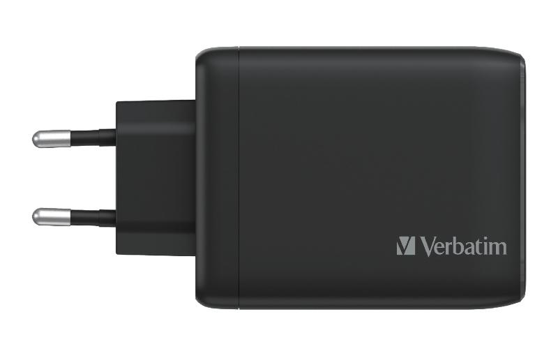 Verbatim 4 Port 100W GaN USB charger in black. (Image source: Verbatim)