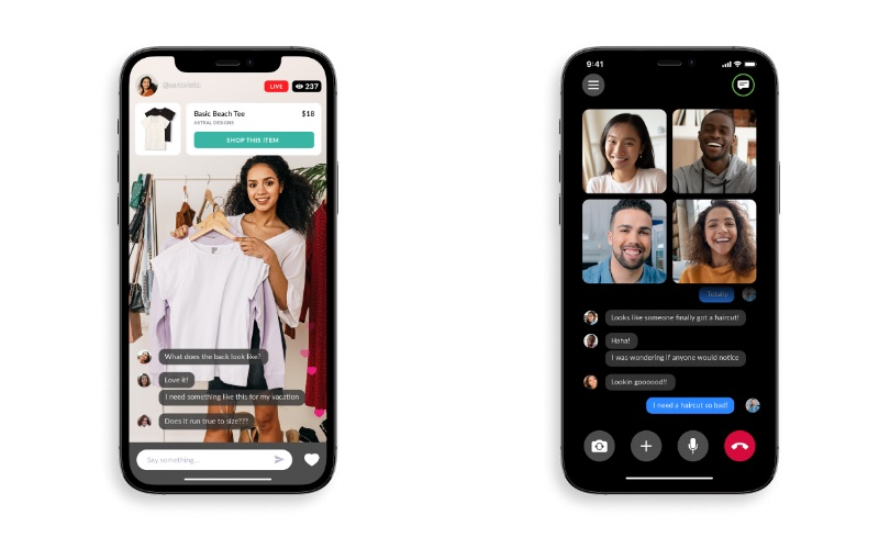 Being able to video chat while online shopping will add a new dimension to shopping. Image courtesy of Zoom.
